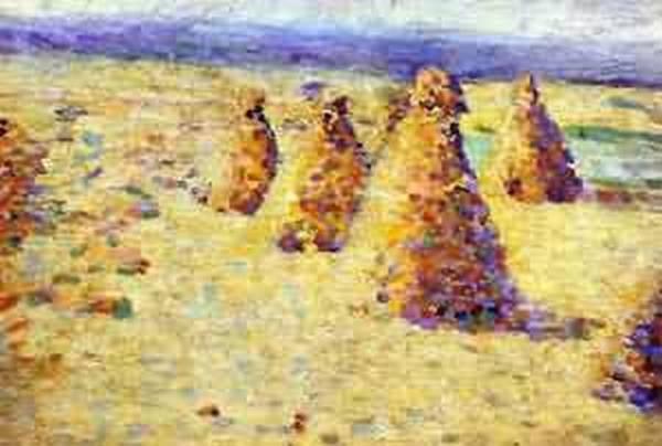 Hay ricks in normandy xx musee dorsay paris france